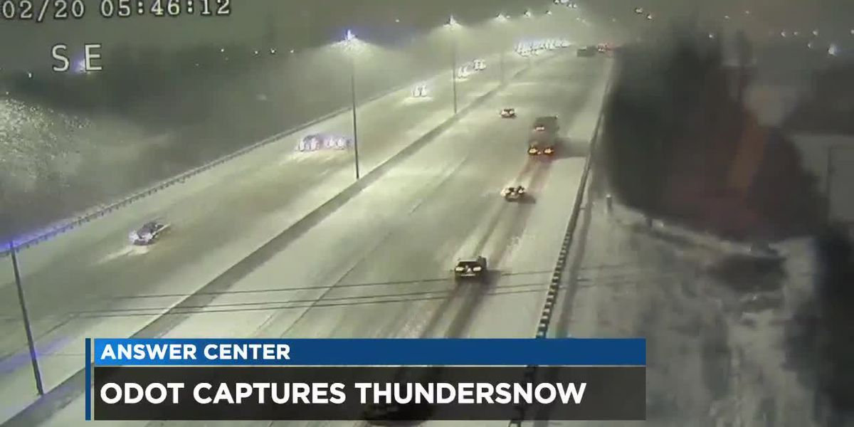 ODOT cameras capture rare 'thundersnow' event in Ohio
