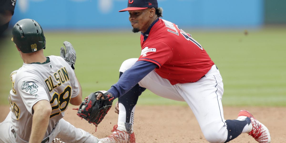 Montas throws 6 scoreless innings, Athletics top Indians 7-2