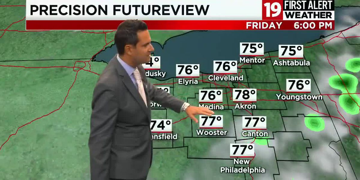 Northeast Ohio weather: A fall feel in the forecast Thursday morning, heating back up this weekend
