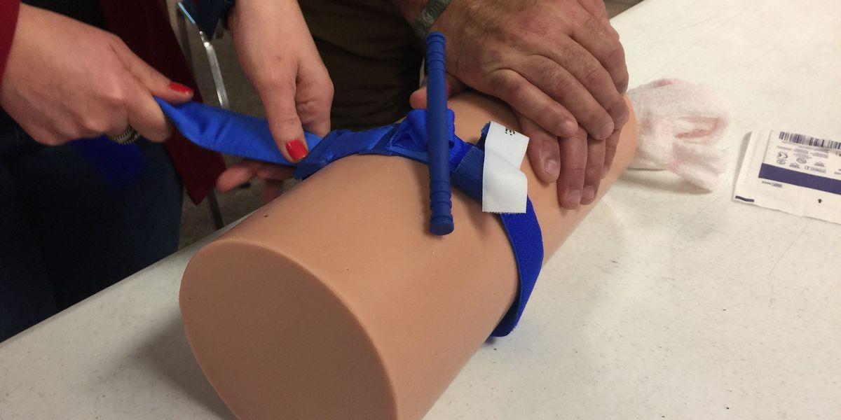 MetroHealth staff trains Elyria Schools to 'Stop The Bleeding'