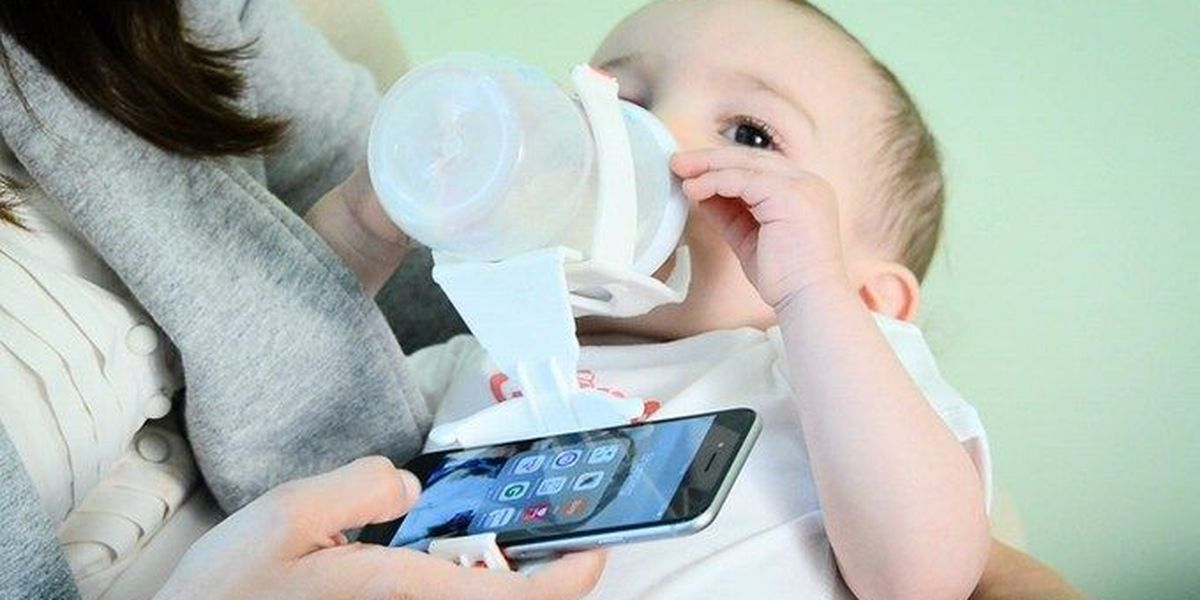 New Kickstarter would let parents bottle feed babies while on their phones
