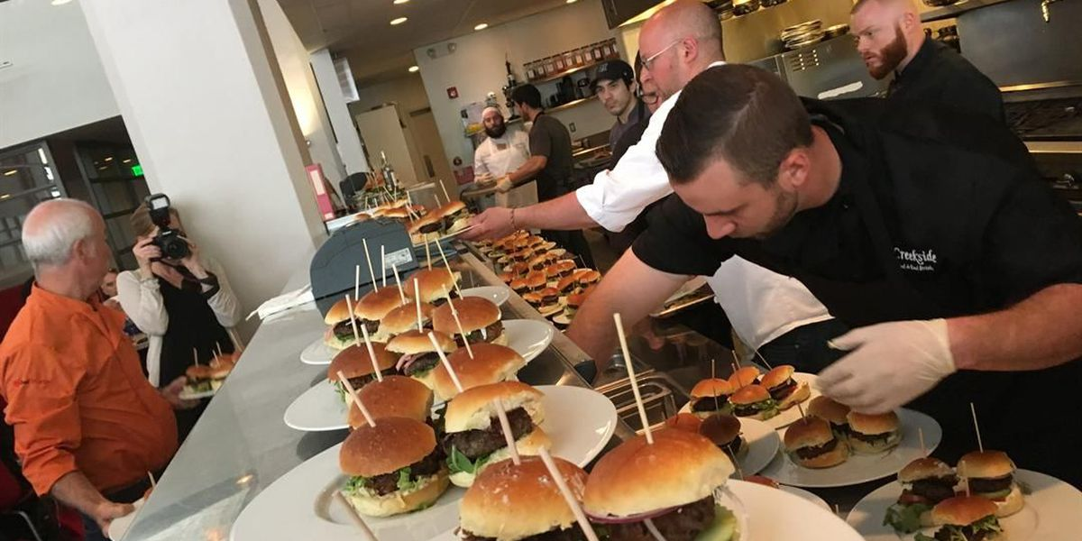 A really important burger luncheon was held in Cleveland this week (hold the fries, add the mushrooms)