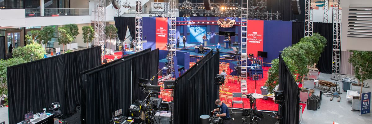 Final preps underway for first presidential debate to be held in Cleveland