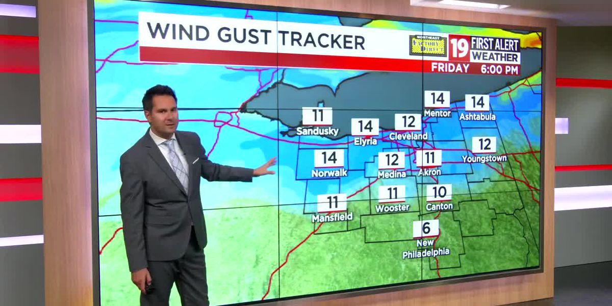 Northeast Ohio weather: Another mild evening ahead, unseasonable warmth through next Tuesday