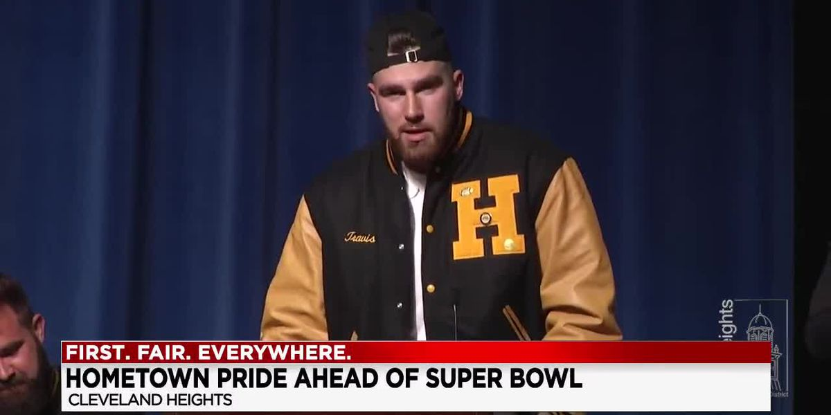 Community turns on to support Chiefs Travis Kelce in Super Bowl
