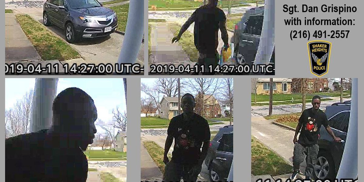 Shaker Heights police searching for package thief suspect caught on camera