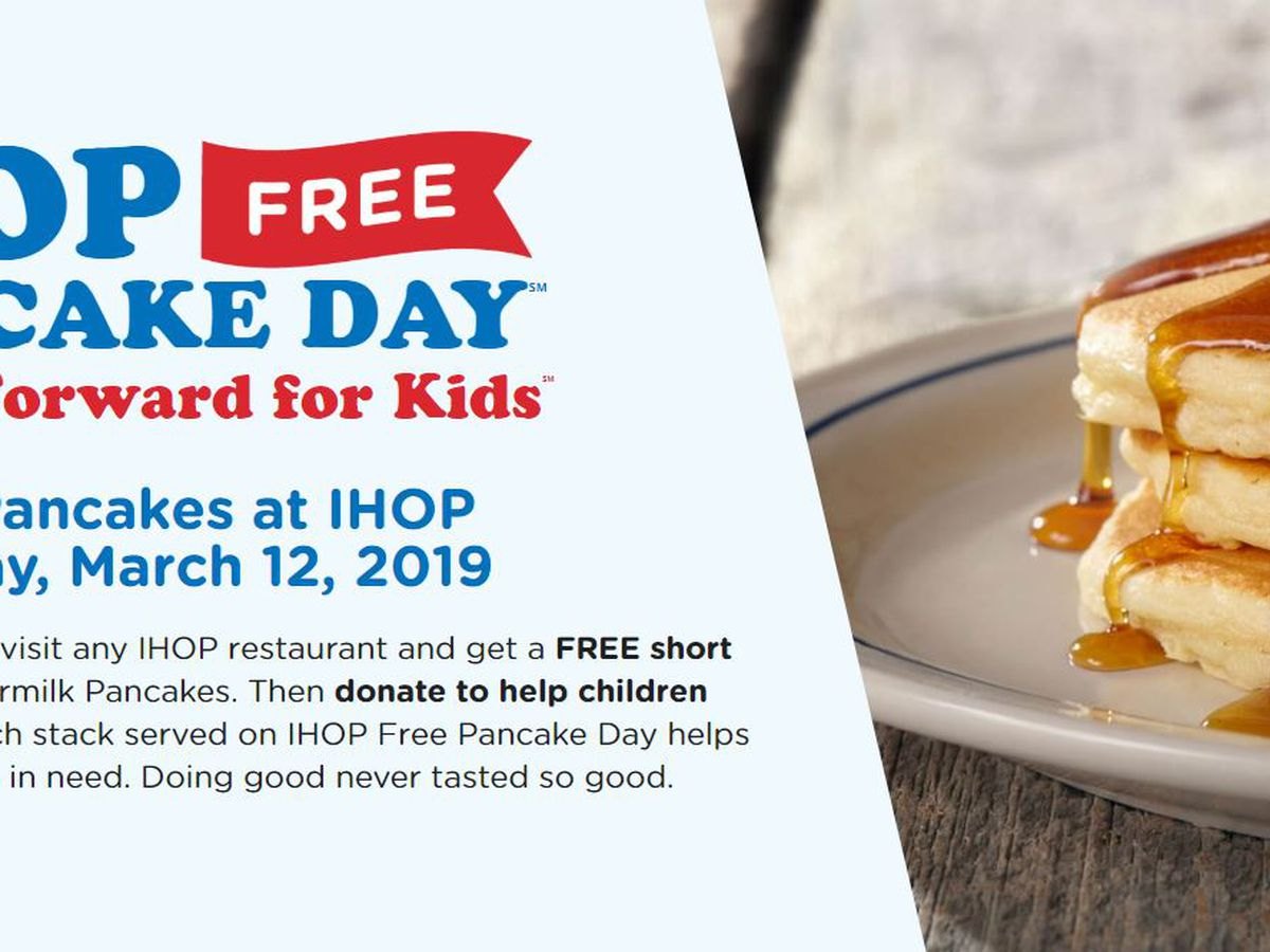 IHOP offering free pancakes Tuesday, March 12