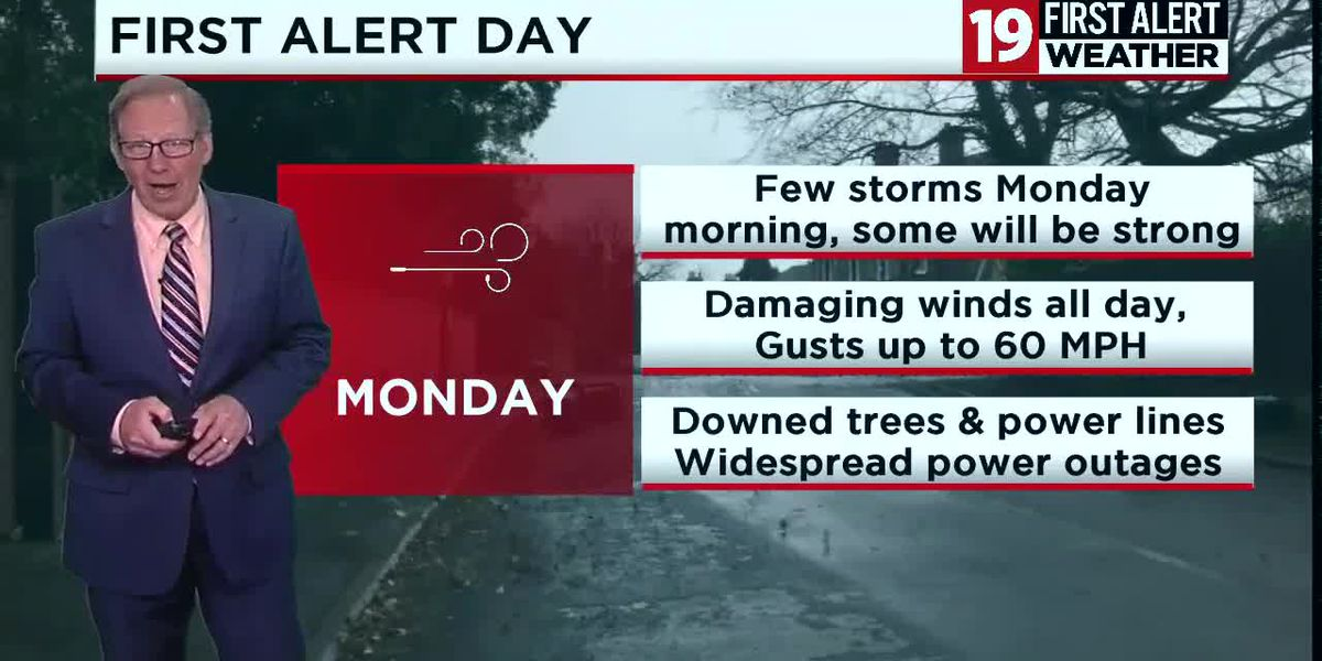 Northeast Ohio weather: FIRST ALERT DAY with High Wind Warning Monday
