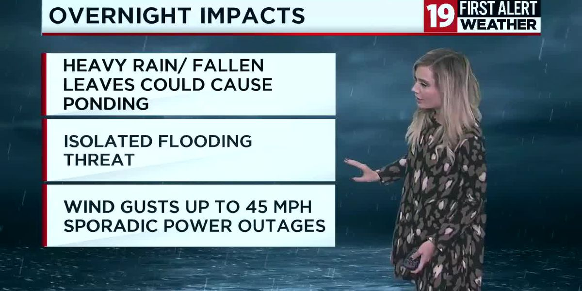 19 First Alert Weather Day: Strong winds and rain continue overnight