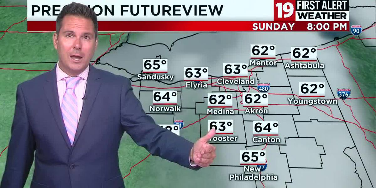 Northeast Ohio weather: Scattered storms Thursday, warm and humid ending to the work week