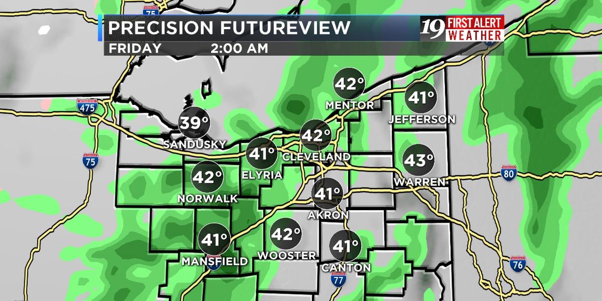 Northeast Ohio weather: Rain returns overnight