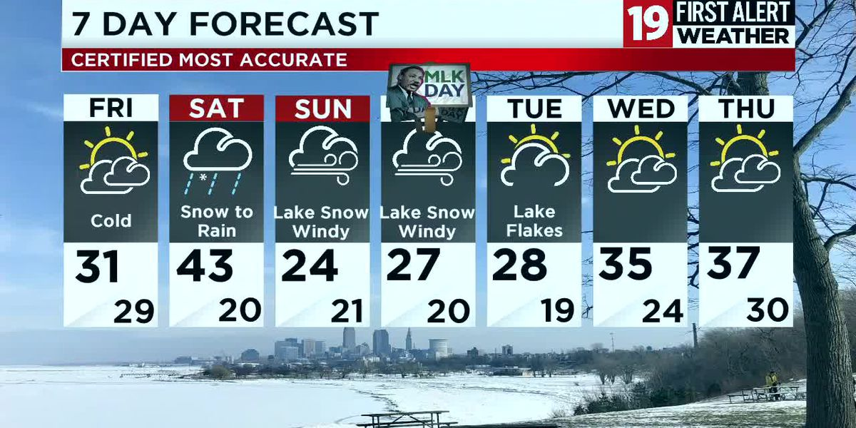 Northeast Ohio weather: Lake effect snow ends by Friday, more snow on the way Friday night into Saturday