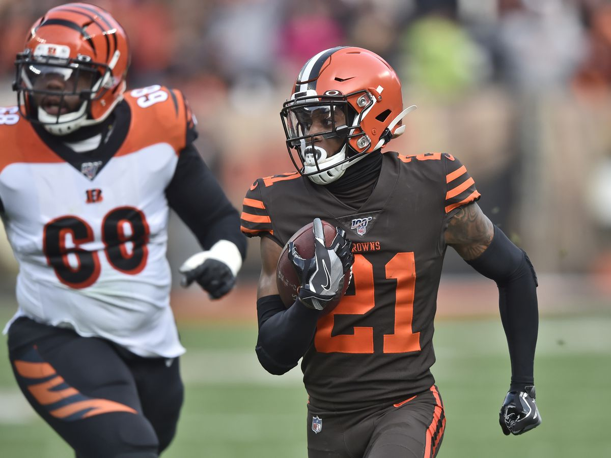 Cleveland Browns' Denzel Ward's first career 'pick 6' comes with free curly fries