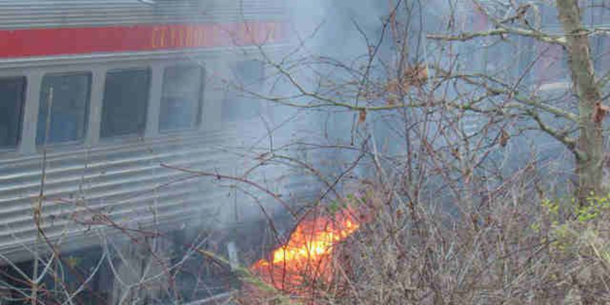 CVSR train catches fire