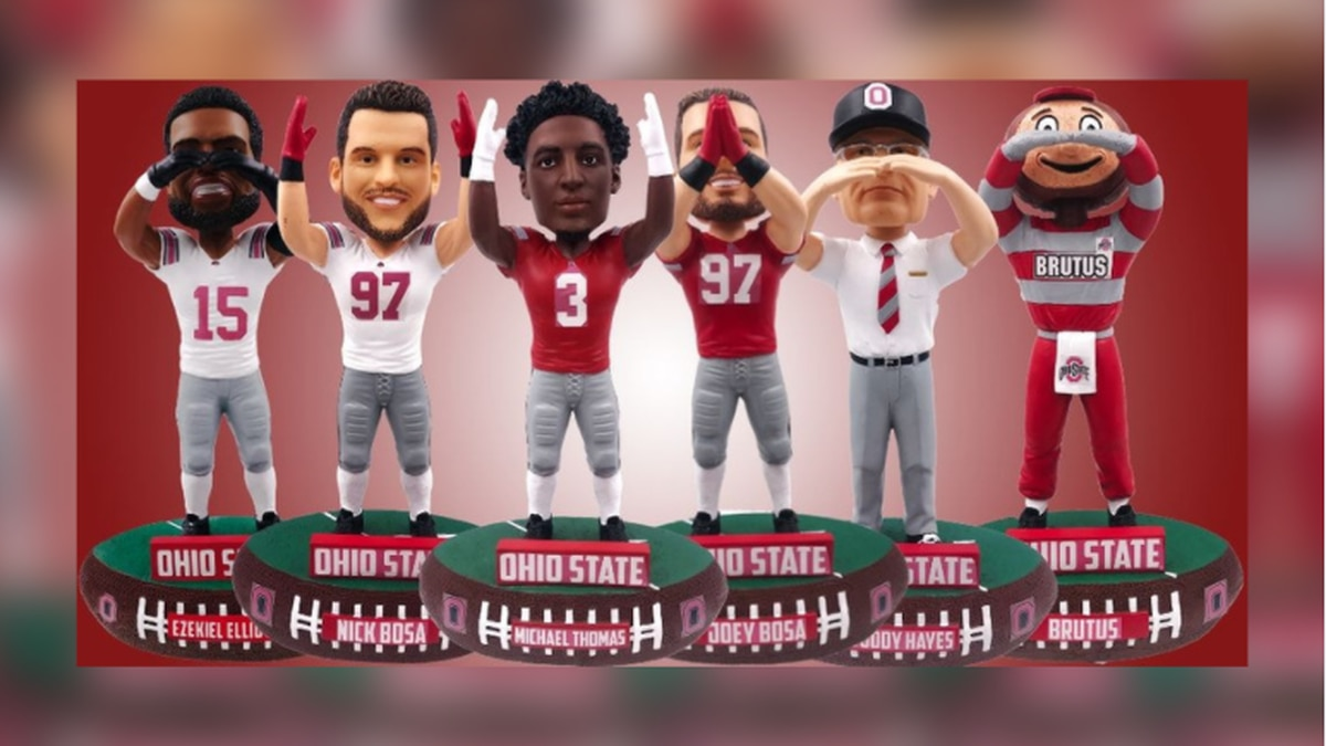 National Bobblehead Hall of Fame and Museum releases 6 limited edition Ohio State O-H-I-O bobbleheads