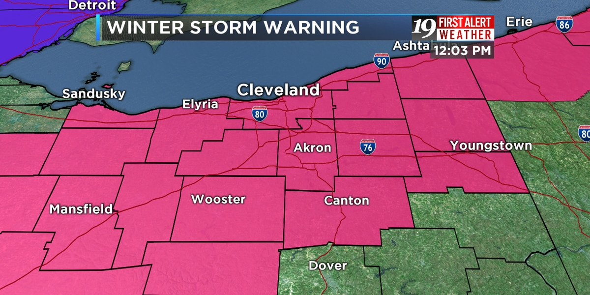 (Live) First Alert Weather Weekend: Winter storm warning issued for Northeast Ohio
