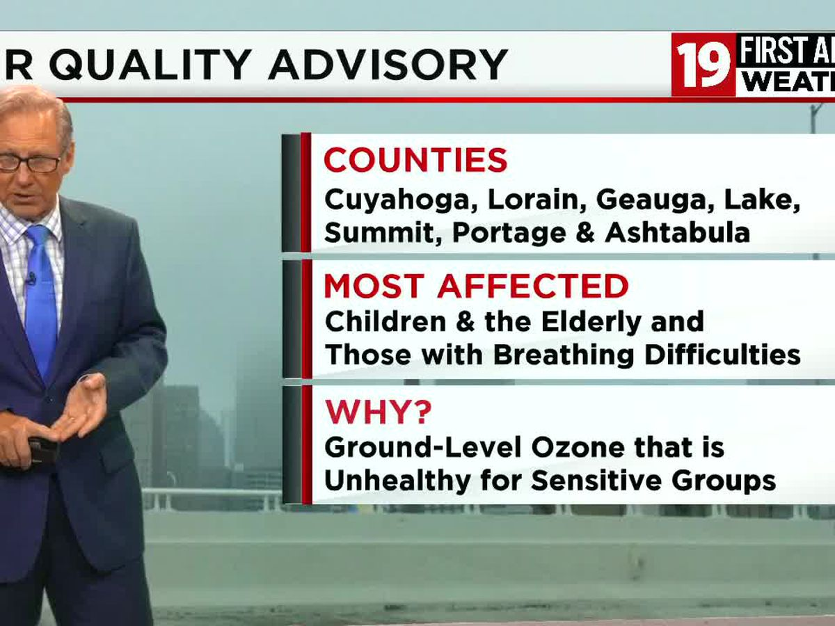 Air Quality Advisory in effect for several Northeast Ohio counties