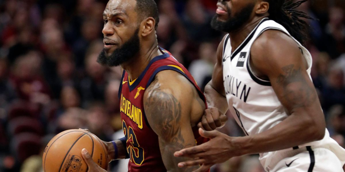 LeBron James leads Cavaliers past lowly Nets 129-123