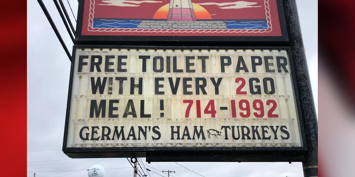 Vermilion bar offers roll of toilet paper with every to-go order