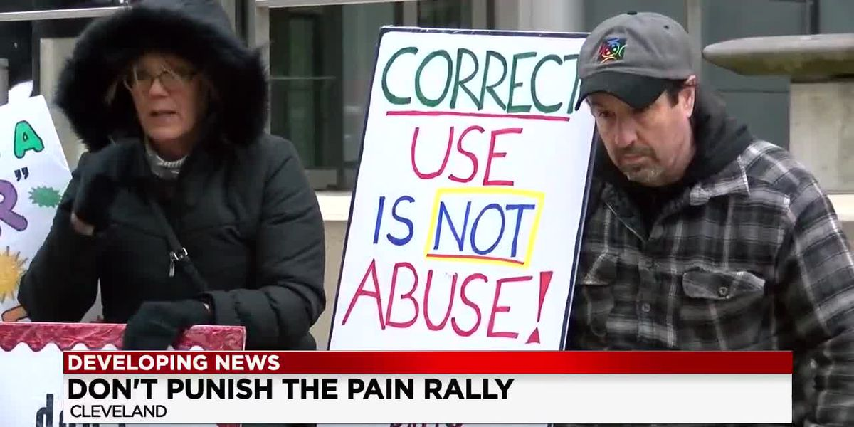 Patients with chronic pain protest lack of access to painkillers
