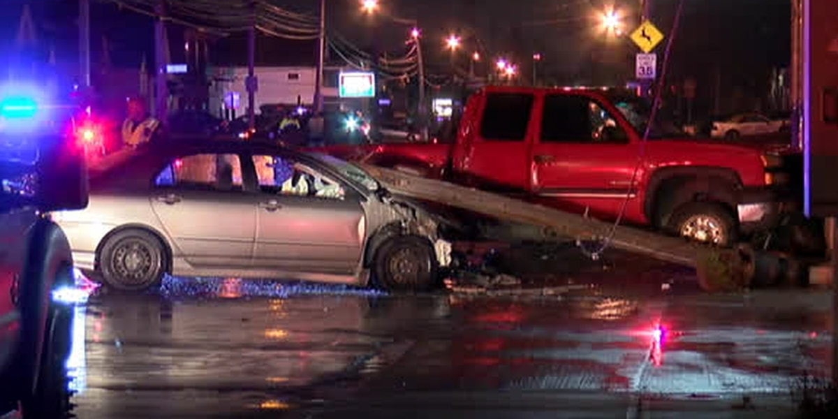 Power lines downed after 2 cars crash in front of Luchita's restaurant on Cleveland's West Side