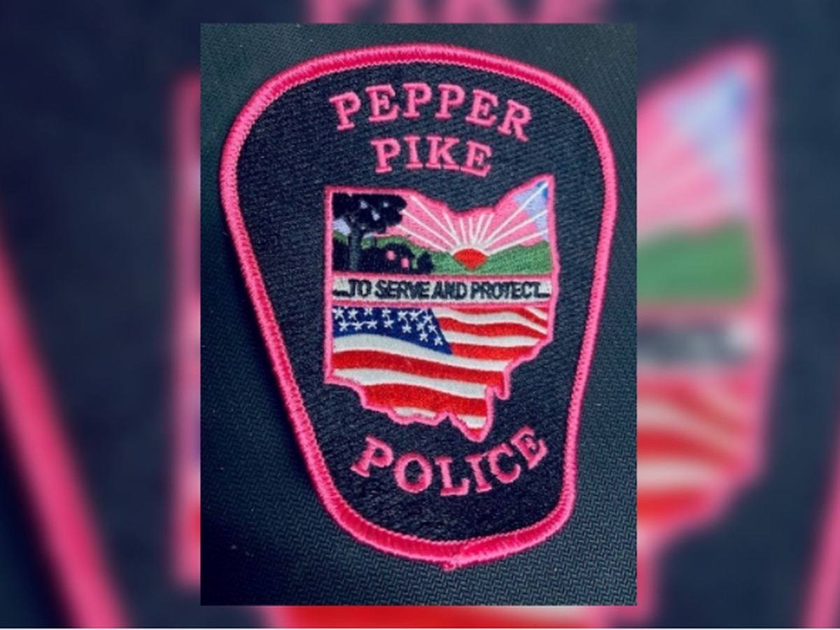 Pepper Pike police wear pink patches for Breast Cancer Awareness Month