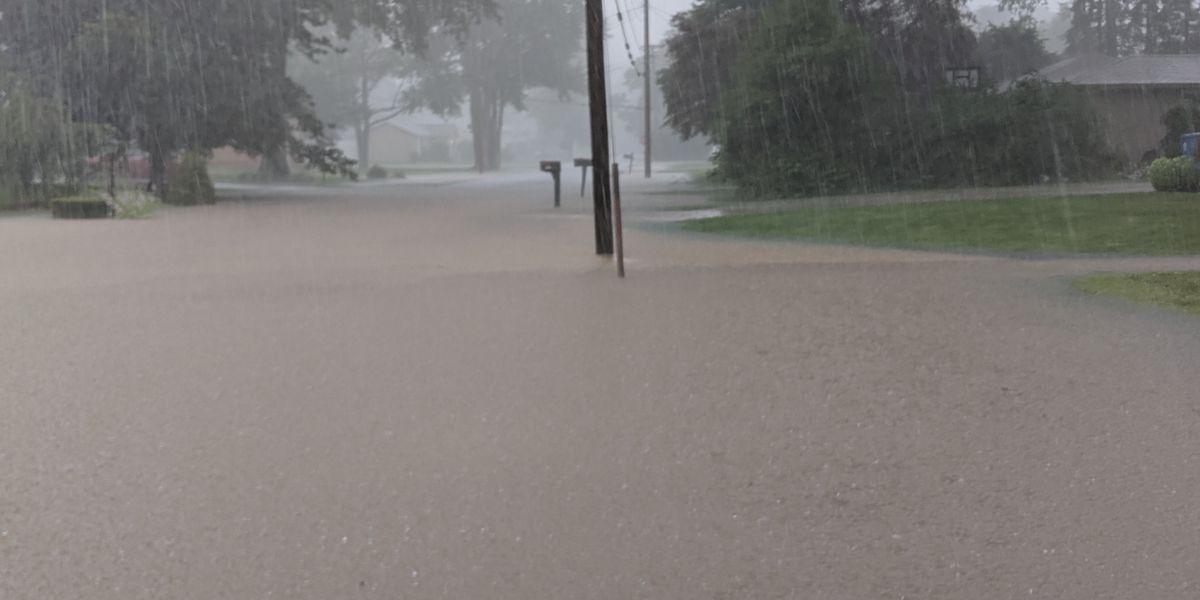 Heavy rains flood Jackson Township roads