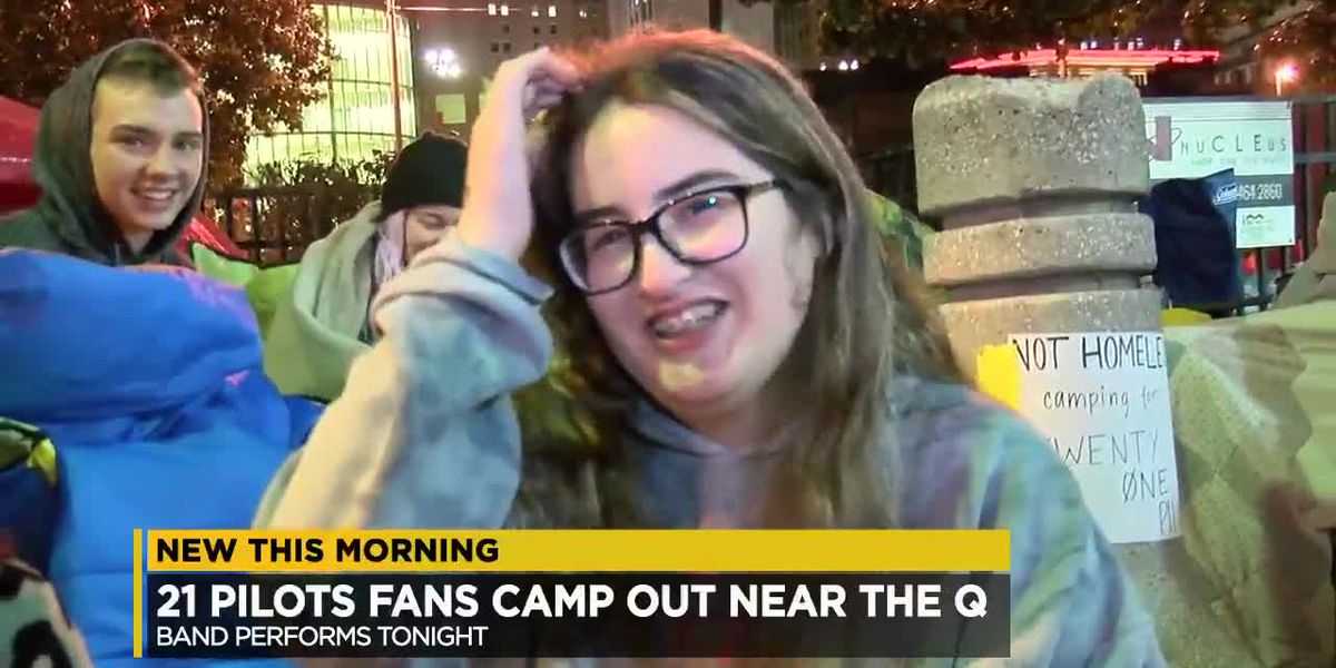 Twenty One Pilot fans camp out in tents ahead of concert at Quicken Loans Arena