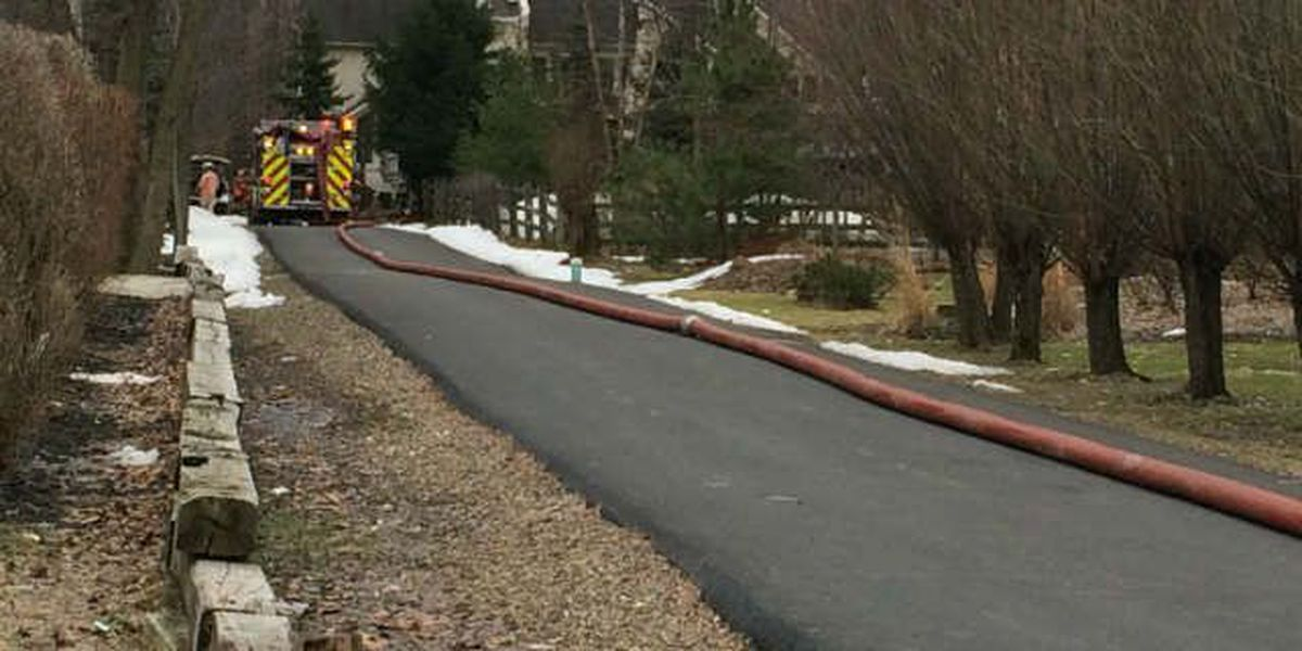Solon house fire shuts down parts of Cannon Rd.