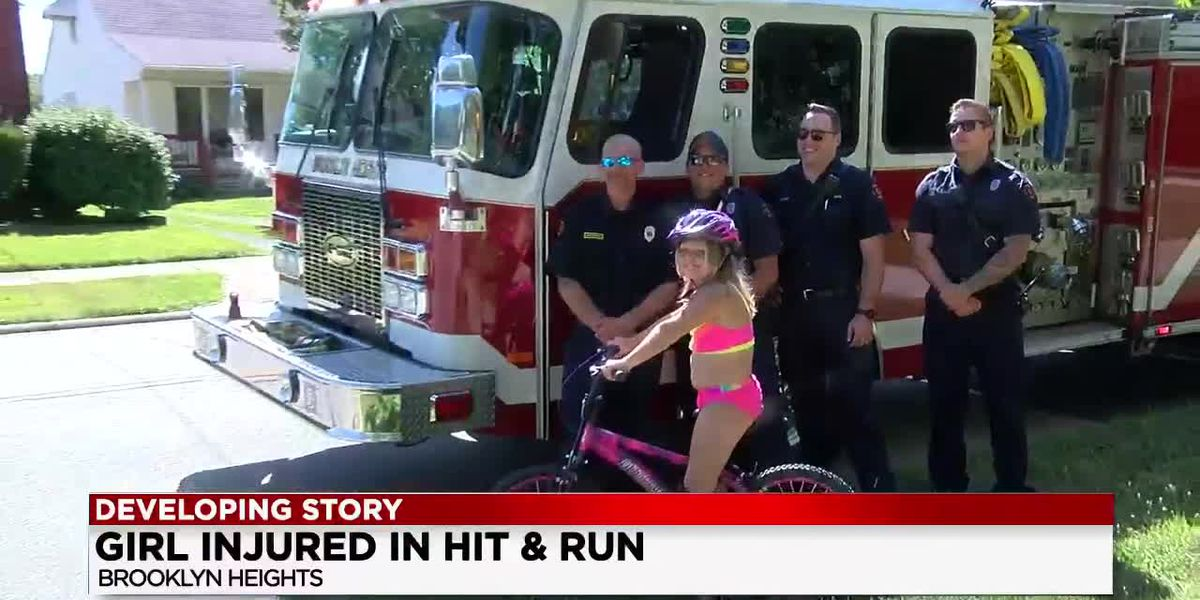 8-year-old girl struck by hit-and-run driver is fine—and Brooklyn Heights firefighters surprise her with a gift