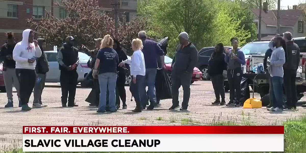 Neighbors clean up Slavic Village as part of 'Homecoming Weekend' celebration