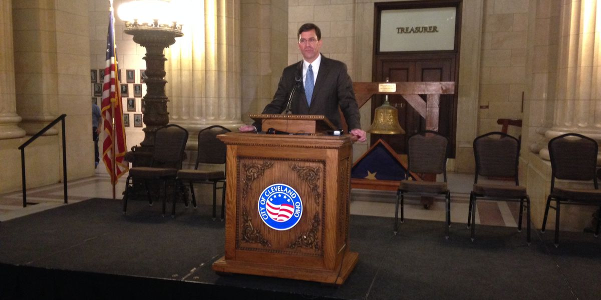 Highest ranking US Army official makes recruiting pitch at Cleveland City Hall