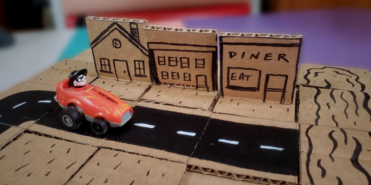 Family craft time! How to make a Cardboard Play Street