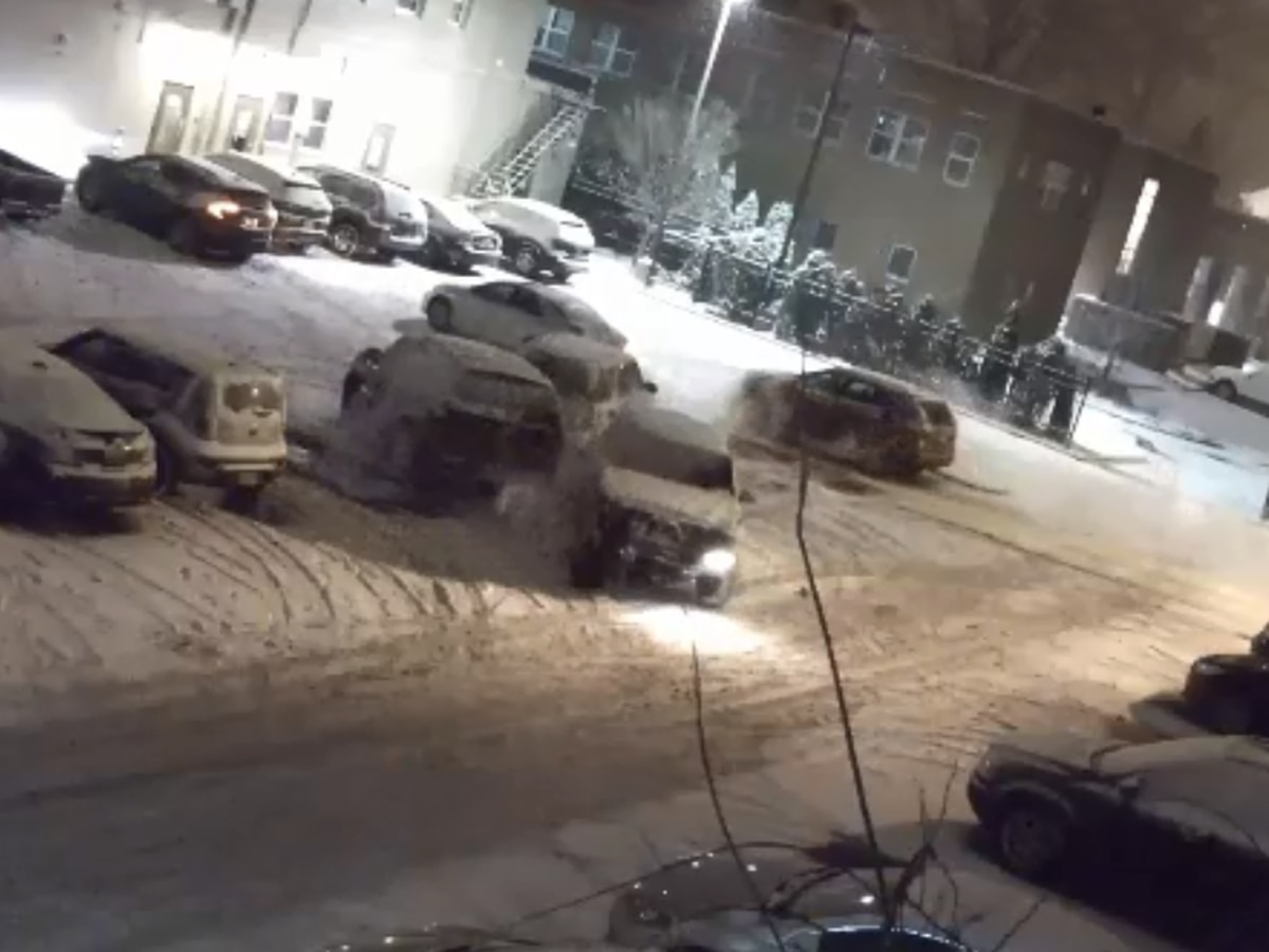 Shaker Heights lot turns into demolition derby, police searching for hit-skip suspect (video)