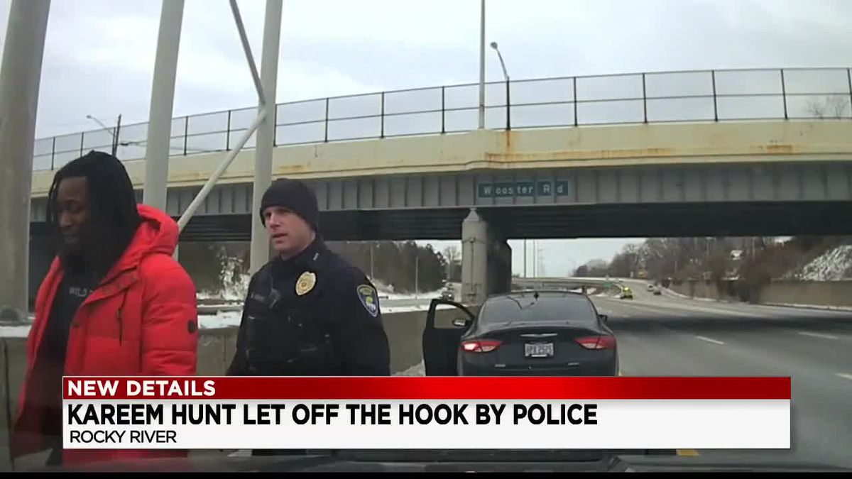 Rocky River police release video of traffic stop involving Kareem Hunt when officer found marijuana