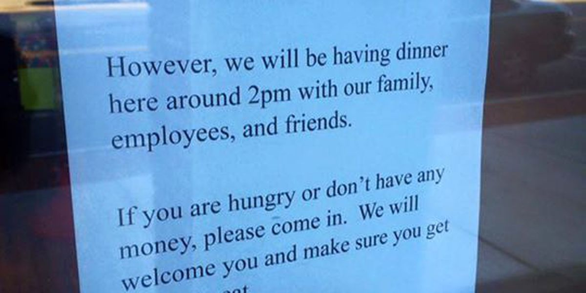 Ohio pizzeria owner offers Thanksgiving meal for those in need