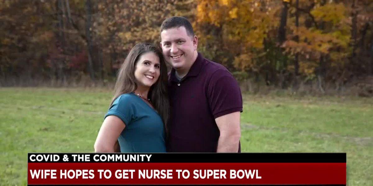 Wife of Northeast Ohio ER nurse asks NFL to send husband to Super Bowl