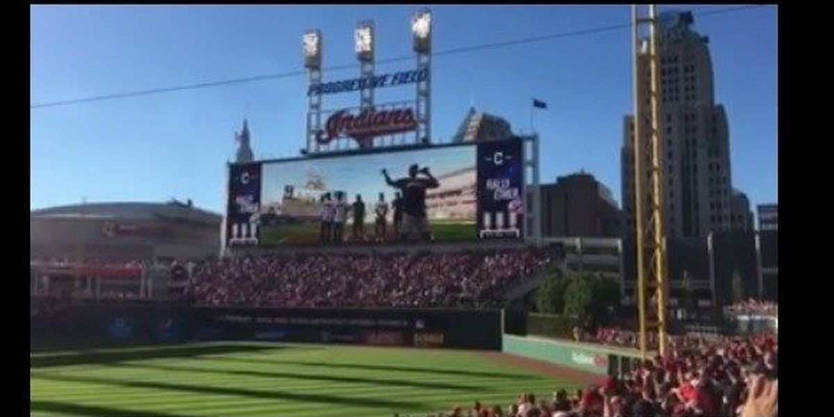Former Yankees fan LeBron James swaps hats and tips his to the Tribe! (video)