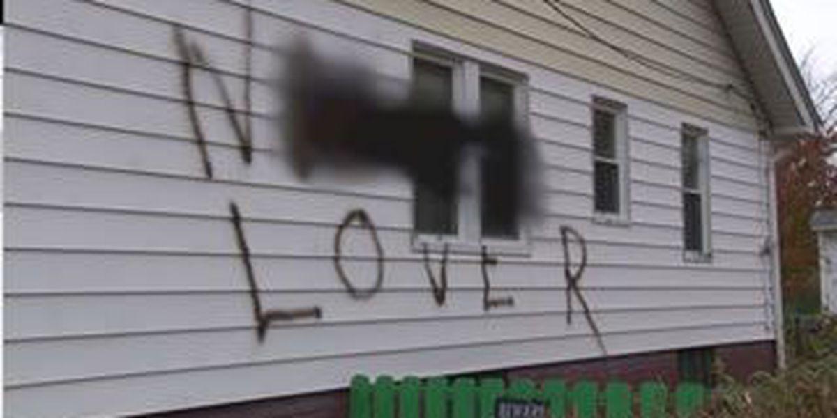 Racist slur scrawled on side of west side home