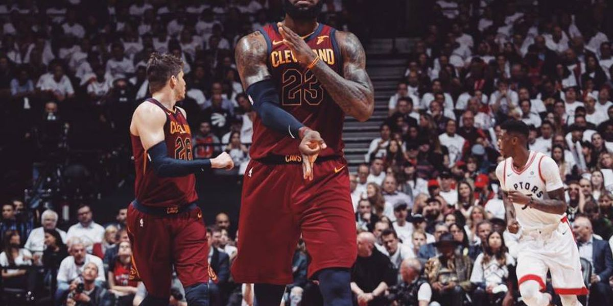 Watch all of LeBron James' 43 points in the Cavs Game 2 win (video)