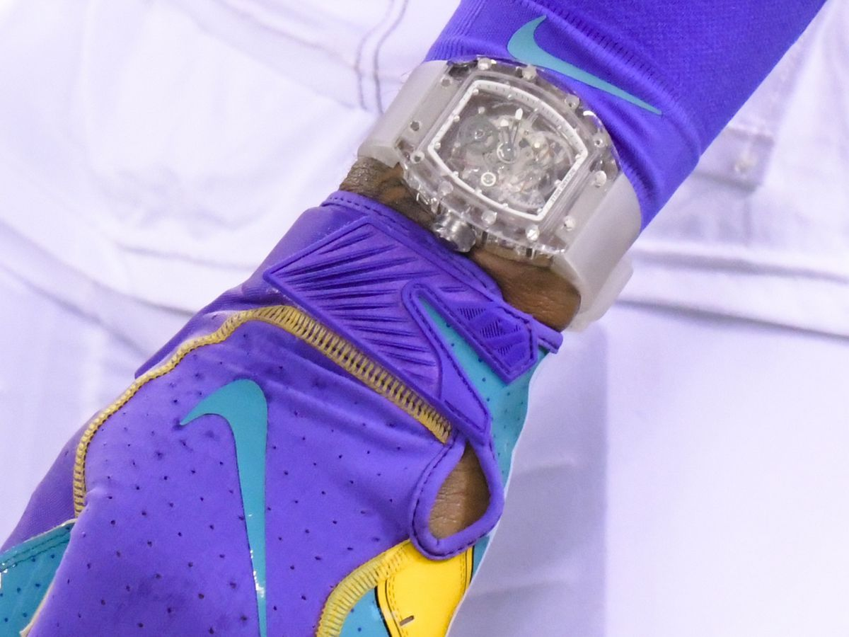 Odell Beckham Jr. sports $2M Richard Millie watch during Browns Monday Night Football win