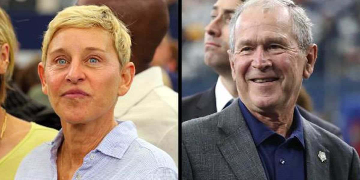 Ellen DeGeneres defends friendship with George W. Bush