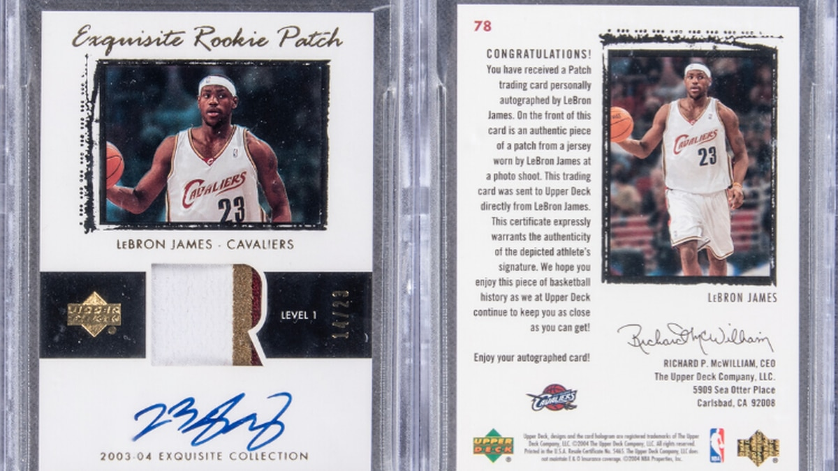 LeBron James' Cleveland Cavaliers rookie card auctioned off for over $1.8 million