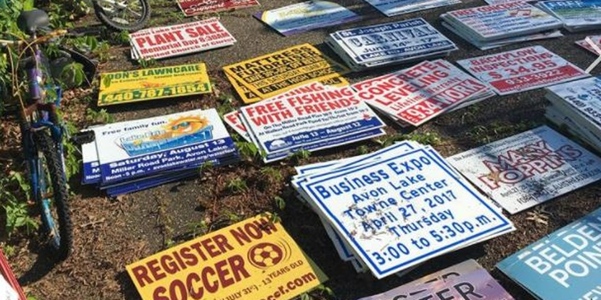 Man accused of stealing more than 500 signs in Avon Lake pleads guilty