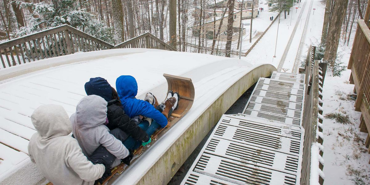 Ohio's tallest toboggan chutes open the day after Thanksgiving in Strongsville