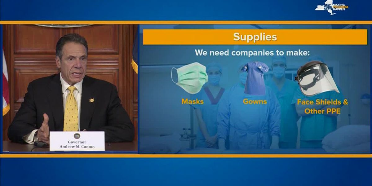 Cuomo asks companies to produce PPE for coronavirus health care