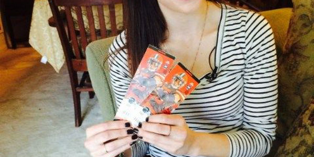 Woman scores Browns tickets from depressed season ticket holder