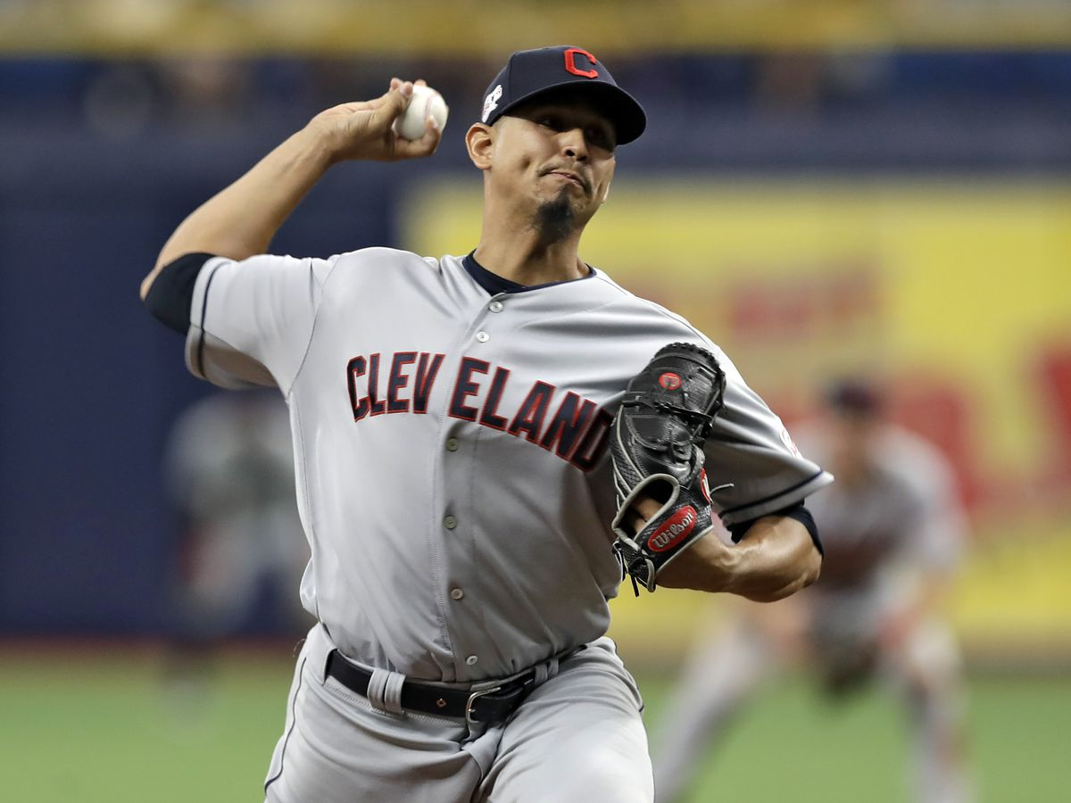 Indians pitcher Carrasco cheered in return from leukemia