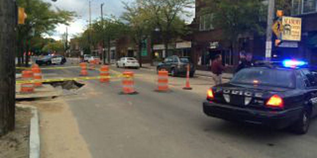 Road collapses in Shaker Heights