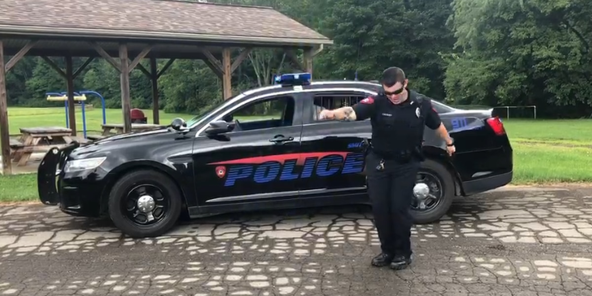 Ohio police officer shows off his moves for the 'Git Up Challenge' (video)